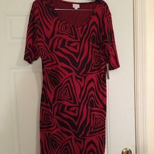 LuLaRoe Julie Dress, XL, New w/tags